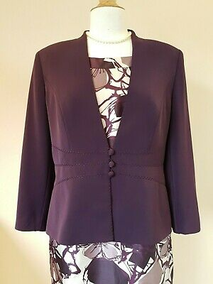 Jacques Vert Ladies purple Jacket Size 14 Wedding/Special Occasion
