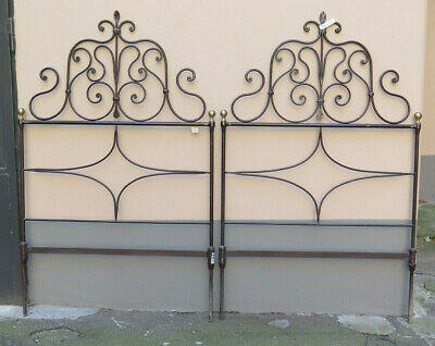 2 Headboards by Bed Single or Double Size Bed Header Bed Iron Wrought a Hand 6