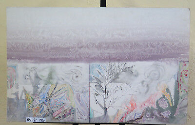 Painting Painting Watercolour Vintage Signed Landscape Winter Snowy P30