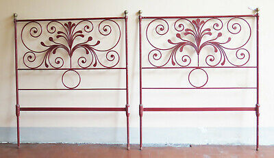 2 Headboards by Bed Single or Double Size Bed Header Bed Iron Wrought a Hand 7