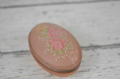 Vintage Trinket Box Vanity Jar Vanity Box Bathroom Decor Powder Box Powder Jar