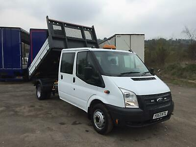 2013 63 Ford Transit crew can tipper euro5 2.2tdci 1 owner from new