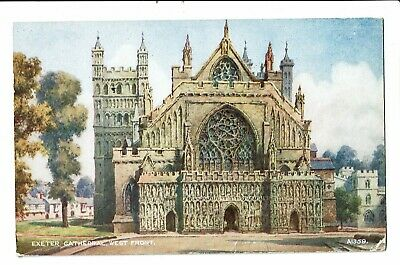 CPA-Carte postale- Royaume Uni - Exeter -Cathedral West Front 1950 VM2300