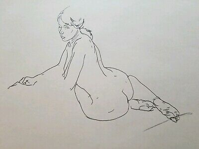 Original NUDE ARTAccomplished Drawing Double Sided PAUL WAGENER (American 1918)
