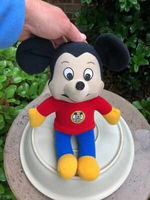 Vintage Knickerbocker Walt Disney - Mickey Mouse  Pull String Plush Toy- 1976