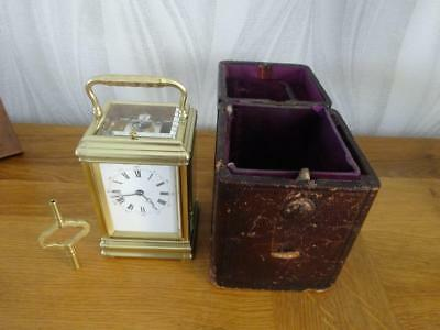 Alfred Drocourt gorge-cased repeater carriage clock - 1880/85 - fully restored