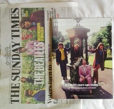 22 July 2018 The Beatles Sunday Times magazine and front page. Major feature