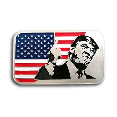 President Trump with USA Flag, 1 Troy oz .999 Fine silver Bullion bar. NEW!