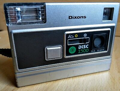 Dixons Early Disc Camera 1980s 90s vintage history PHOTO PICTURES