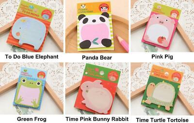 1pc Paper Cute Animal Cartoon Memo Pad Stickers Decal Sticky Notes Scrapbooking