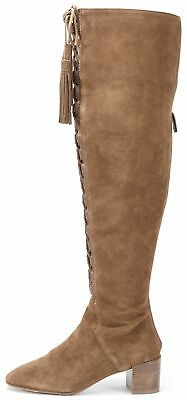 7e2b9f6ee6e MICHAEL KORS COLLECTION Brown Lace-Up Suede Over-Knee Boots
