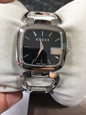 cbe87923fd0 Gucci G-Gucci YA125407 Stainless Steel Ladies Watch Sapphire Crystal Dial  32mm