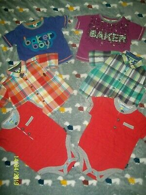 Ted Baker baby boys bundle bodysuits shirts tops age size 6-9 months twins? VGC