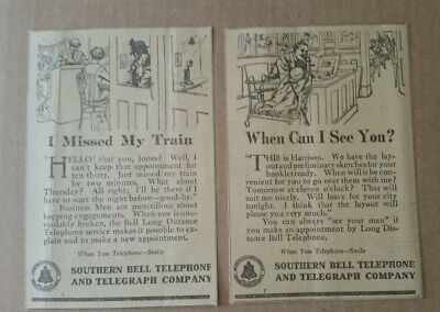 1912 Southern Bell Telephone & Telegraph Co ADS