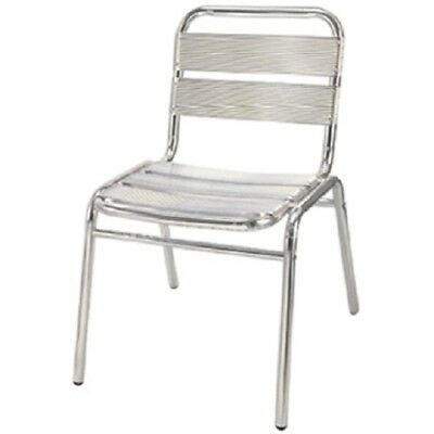CLOSEOUT: Aluminum Aviator Outdoor Ladder Back Side Chair