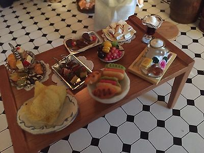 Dolls House dresse table with food display lot 3 Victorian Period 1/12th   scale