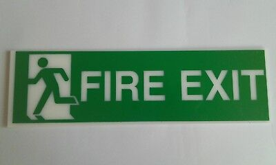 fire exit running man perspex sign