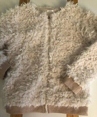 Girls Next Faux Fur Coat Age 10 Years In Cream