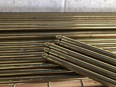 Solid brass stair rods and brackets set of 26.