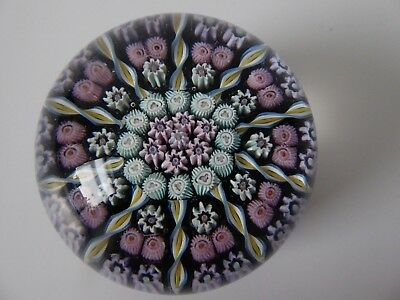Vintage Perthshire 10 Spoke Glass Paperweight Crieff Scotland 270G Diameter 6 Cm