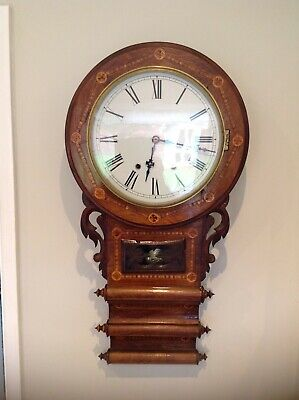 19th Century Anglo American Drop Dial Clock