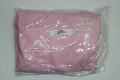 """ASSC ANTI-SOCIAL SOCIAL CLUB """"KNOW YOU BETTER"""" HOODED SWEATSHIRT PINK size Small"""