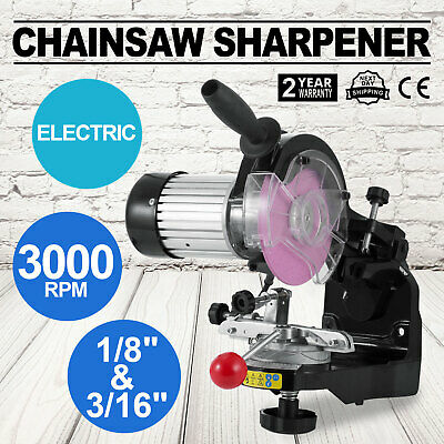 Chainsaw Sharpener Grinder W/grinding Wheels Pro Tool 230W Versatile Ce Approved