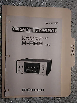 1970'S PIONEER 8 Track Tape Player QH 4000 SERVICE MANUAL