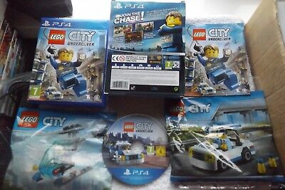 LEGO CITY UNDERCOVER LIMITED EDITION PS4 V.G.C. FAST POST ( + 2 X sets of lego )