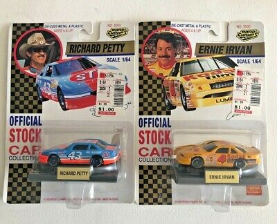 2 Road Champs Richard Petty & Ernie Irvin 1:64 Die Cast 1992 Official Stock Car