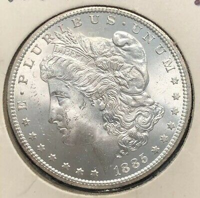 1885-CC U S  MORGAN Silver $1 Dollar Coin Brilliant Uncirculated