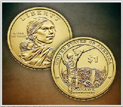 2015 - P&D Mint   Sacagawea Native American Dollars  * Mint State BU Condition *