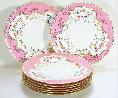Antique Eight Minton Porcelain Dinner Plates for Tiffany & Co.