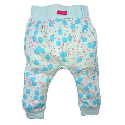 BNWT Baby Infant Girls TURQUOISE Trousers Joggers Pants 100% COTTON 3-6/12-18m