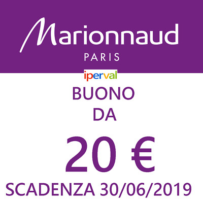 Marionnaud 20 EURO € Buono Sconto Coupon Make Up Profumo etc-NO booking flixbus