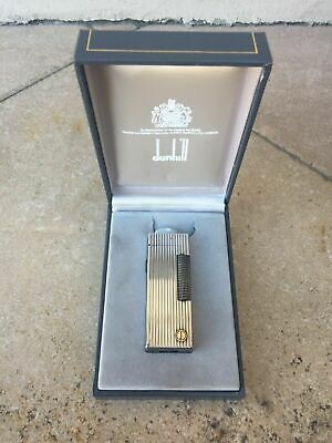 Vintage Dunhill  Lighter Accendino  Briquet With Box And Instruction