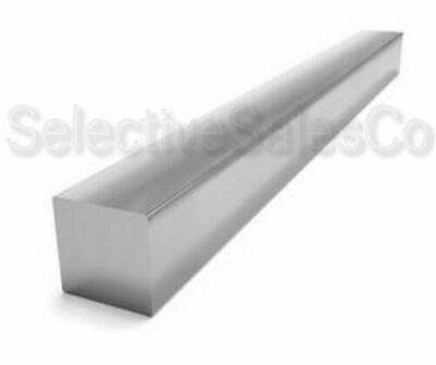 "Square Stock 6061 Aluminum Alloy 3/8"" x 3/8"" x 72""  Solid Square  6 ft. Long Bar"