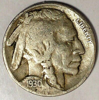 """1930-P 5C Buffalo Nickel, 18oct1204-3 """"Only 50 Cents for Shipping"""""""