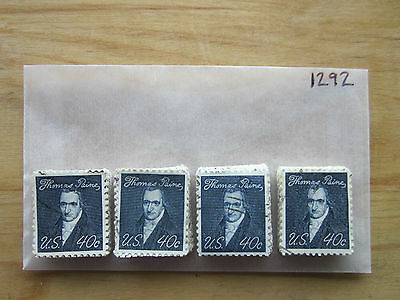 # 1292 x 100 Used US Stamps Lot  Thomas Paine Issue See our other lots