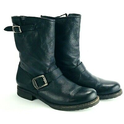 f30d30d8853 FRYE VERONICA SLOUCH Short Shortie Boots Black Leather Womens Size 7 ...