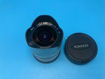Rokinon 8mm f/2.8 Aspherical UMC Lens For Sony (Silver)! USPS 2-3 days!!!!!