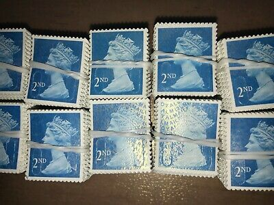 1000 2ND CLASS (SECOND) UNFRANKED STAMPS NO GUM EXCELLENT CONDITION Best Quality