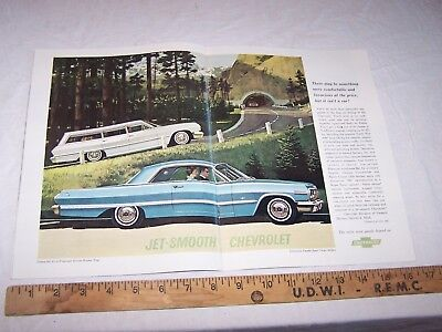1963 CHEVROLET 2 Page Ad IMPALA BEL AIR STATION WAGON Froderman RILEY INDIANA