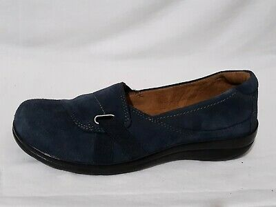 6c928307aa4 Natural Soul Naturalizer SZ 8M Blue Suede Leather Ilena Slip On Loafers Low  Heel
