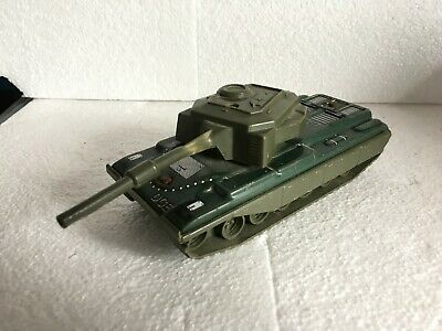Joustra Carro Bewaffnete Zinn Panzer Tin Toys Tank A Kupplung Friction Powered