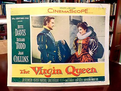 SEXY Joan COLLINS, Richard TODD LobbyCard THE VIRGIN QUEEN (1955) #3, GET SIGNED