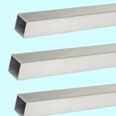 "Square Hollow Aluminum Tubes  (3-Pack)  1/8"" O.D. x 7/64"" I.D. x 12"" Long  Mill"