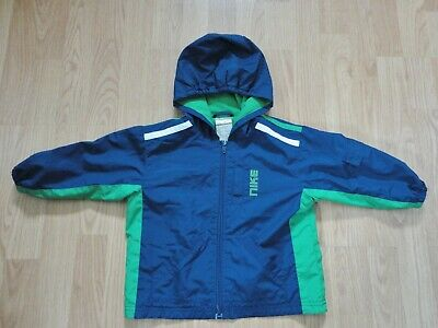 1ebadf3febbd64 Boys Nike size 24 month zip front hooded windbreaker navy green jacket