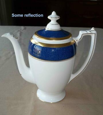 Coalport Bone China Athlone Blue and White Gold Trim England Tea/Coffee Pot