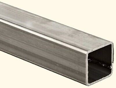 """1 1//2/"""" x 1 1//2/"""" x .065/"""" x 80/"""" Alloy 304 Polished Stainless Steel Square Tube"""